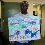 Tresvonni shows off Blue team poster!