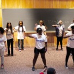 Here is a photo of blue team performance! The group dance synced to the song beat so well!