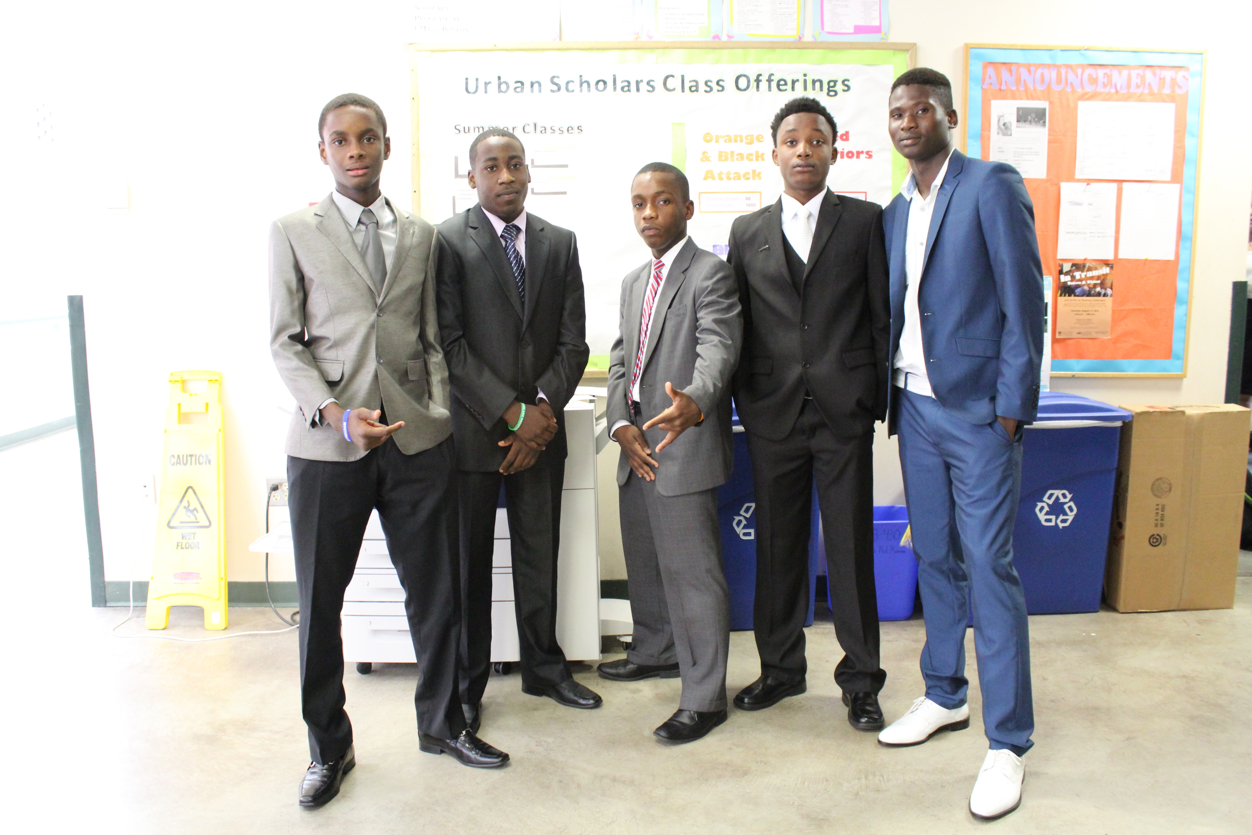 These boys posed for the camera looking very spiffy!