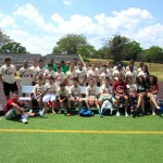 TAG come together for a soccer picture!