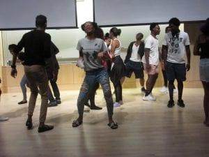 Scholars dancing.