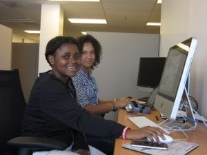 Me and Helen at the office