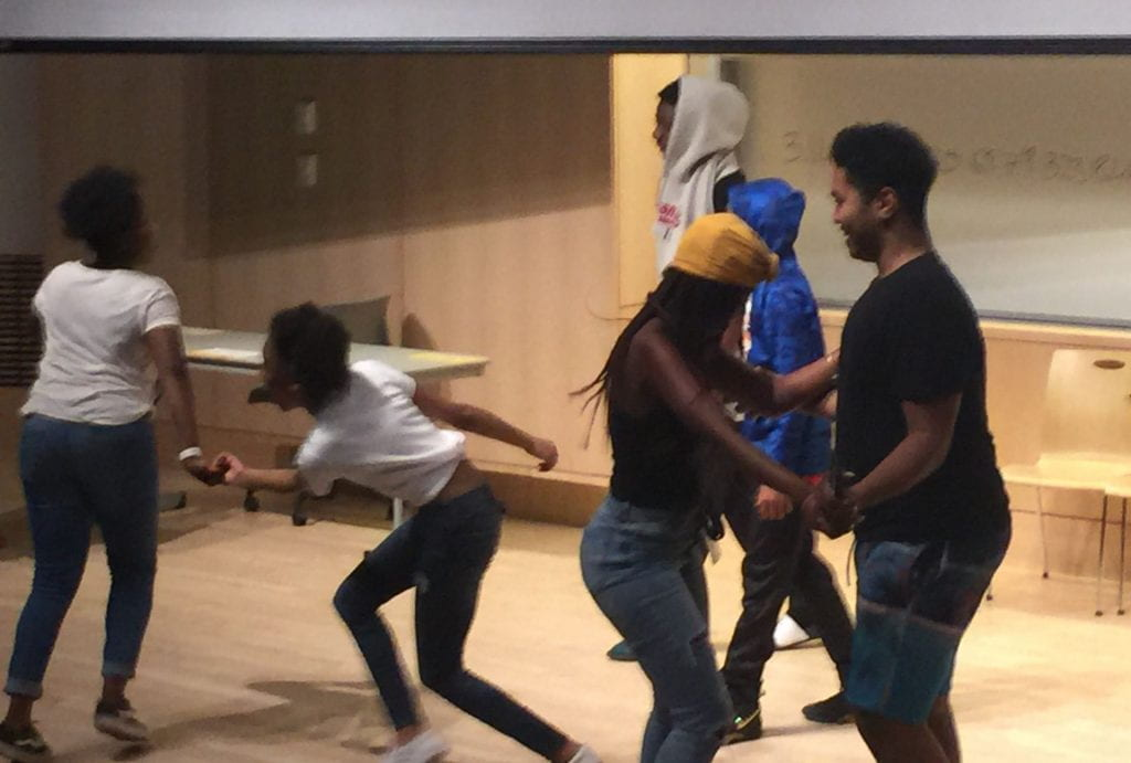 the students free dance