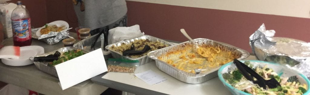 some food brought by the students