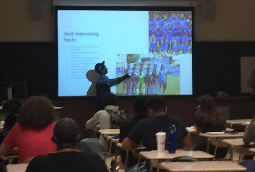 presentation of Haitian sports culture by student