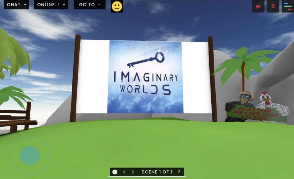 Virtual island in FrameVR