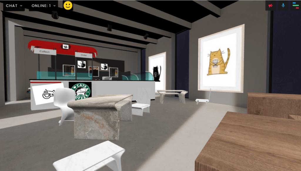 Cat cafe image 1 in FrameVR