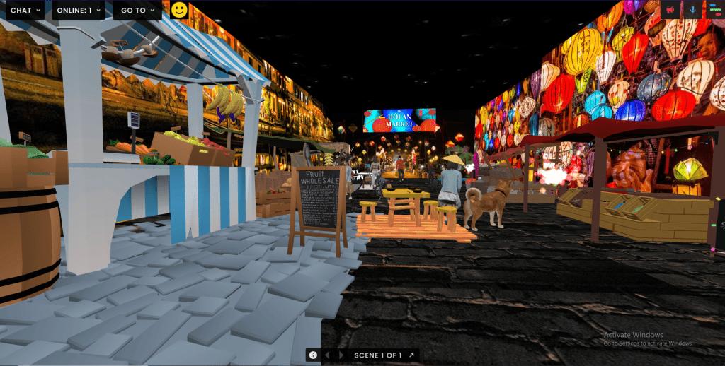 image of the market in FrameVR