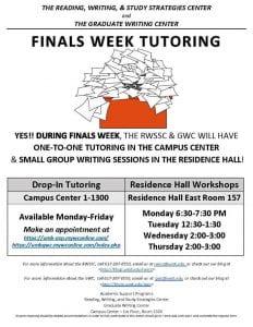 Finals Week Poster