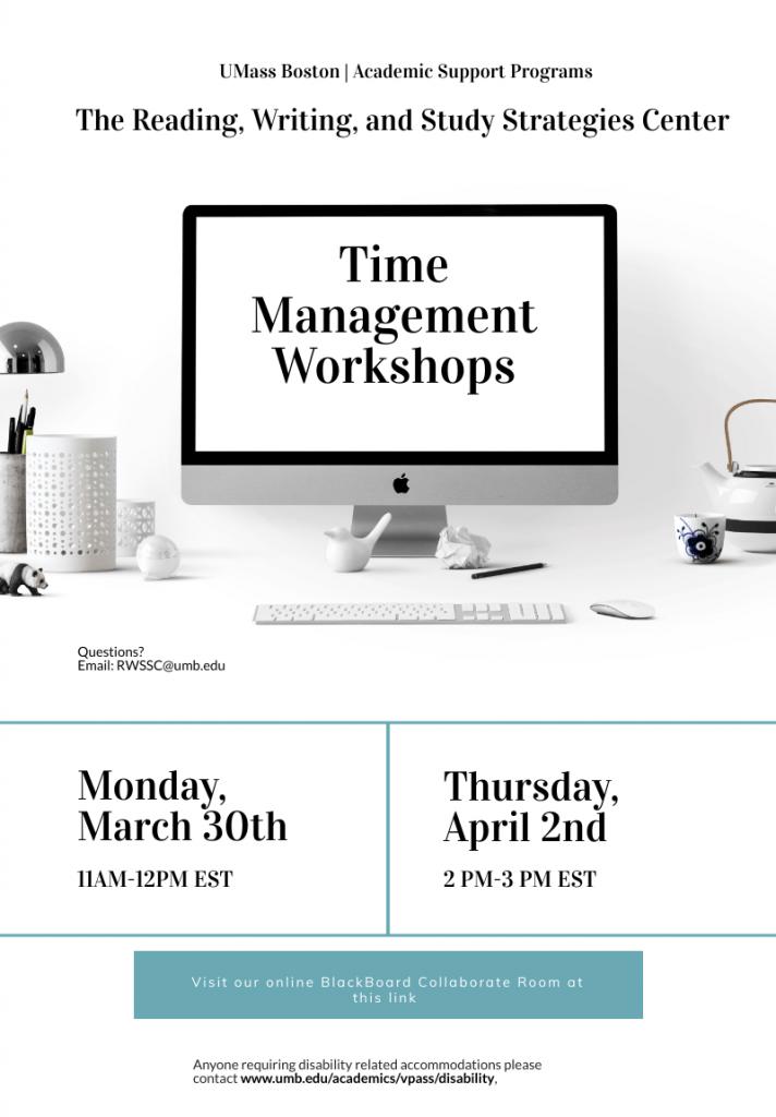 Time Management workshops