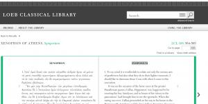 Screen shot of Loeb Interface