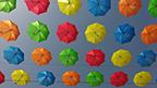 umbrellas in rainbow colors