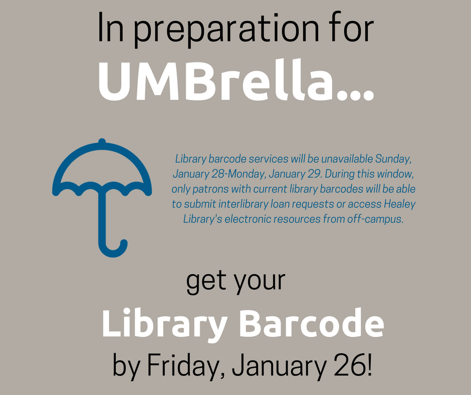 Get Your Library Barcode by Friday, January 26