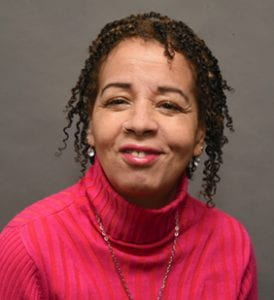 This is a profile photos of Director of Leadership Programs Lynne Mendes