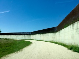 U.S. Mexico border wall, Progreso Lakes, Texas