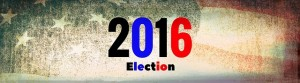 2016 election with American flag