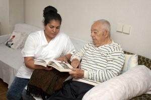 Elder with health aide