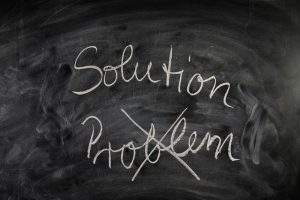 """Solution"" written on blackboard"