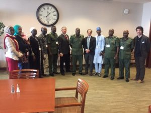 Nigerian Military conference attendees