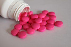 bottle of painkillers