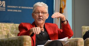 Gina McCarthy Talks climate Change at the McCormack Graduate School
