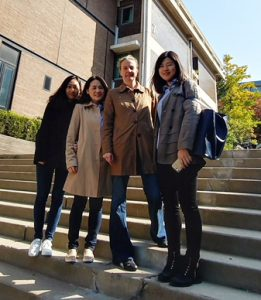 Image of professor and students in South Korea
