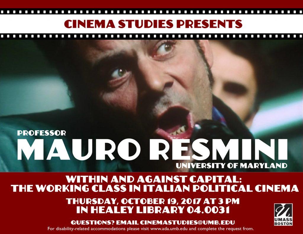 Event: Mauro Resmini about Italian Cinema