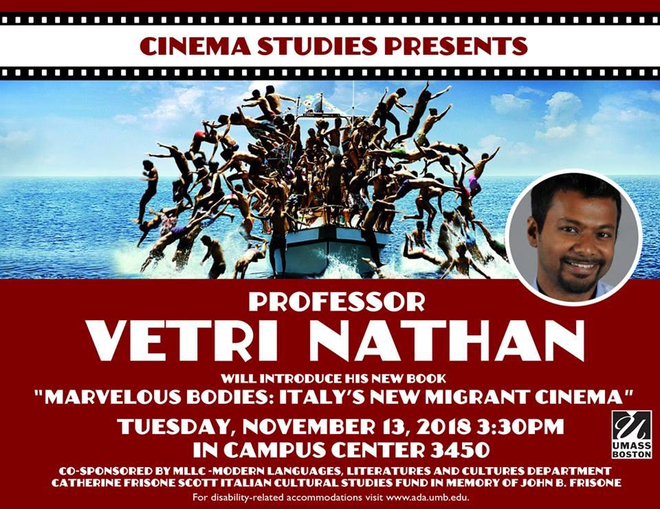 """Event: """"Marvelous Bodies: Italy's New Migrant Cinema"""""""