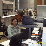 then PhD student and now Dr. Bindu Kaimal shooting up some feathers at Arkansas State University. Note the open hood on Princess, her standing running condition in Arkansas