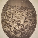 """This photograph, taken in 1860, gives us a glimpse of just how crowded Boston was becoming. (Source: """"Boston, as the Eagle and the Wild Goose See It"""", 1860, Boston Public Library, Print Department)"""