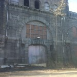 One view of the original entrance to the Calf Pasture Pumping Station.