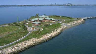 Aerial shot of the Nut Island facility in Quincy, MA. (Source: Massachusetts Water Resources Authority)