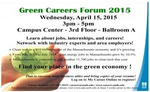 Green Careers Forum 2015 - flyer