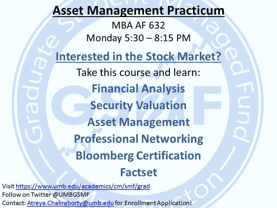 Asset Management Practicum Advertisement