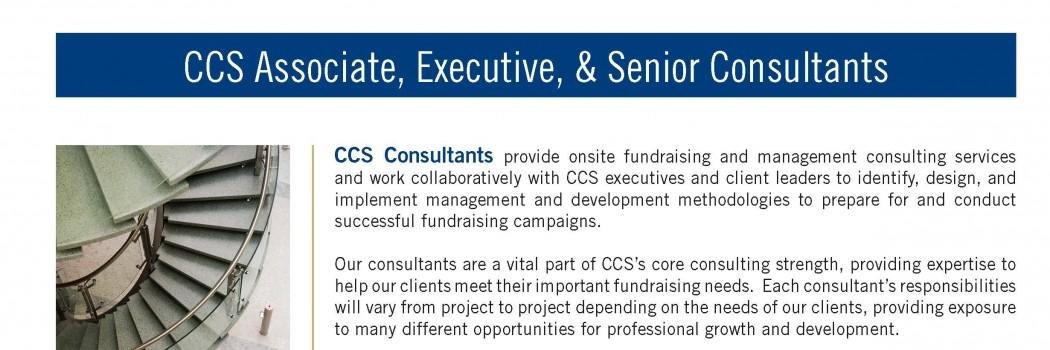 CSS Associate, Executive, & Senior Consultants – Open position