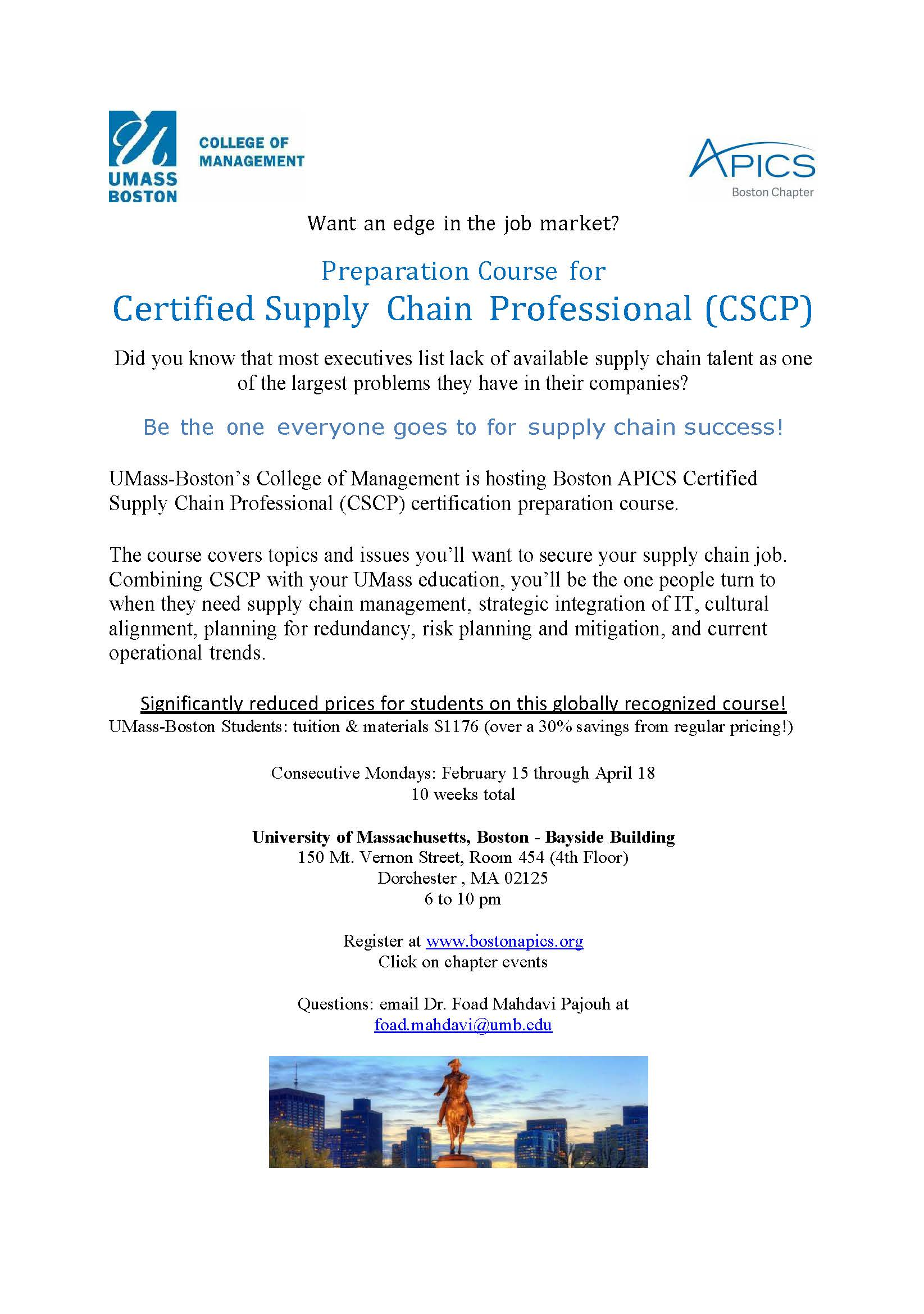 Preparation course for certified supply chain professional cscp 16 02 08 cscp umass xflitez Choice Image