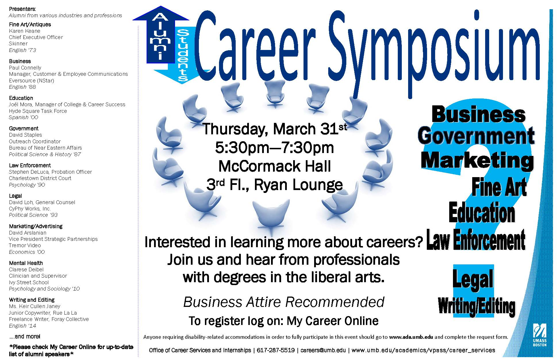 career symposium thursday st college of management career symposium poster 2016