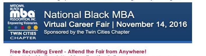 NBMBA Twin Cities Virtual Career Fair November 14th
