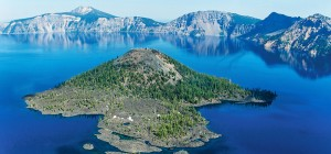 "Jason Lusk, photographer, ""Crater Lake, Wizard Island."" Image: courtesy of photographer. Lakes are gifts of nature, but can also be created."