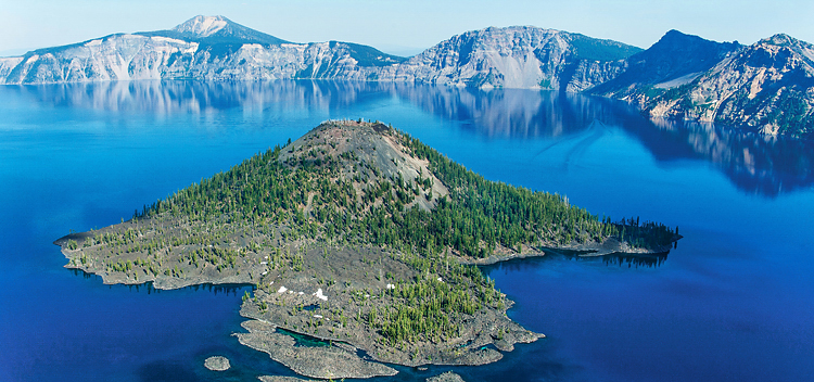 "Jason Lusk, photographer. ""Crater Lake National Park, Wizard Island."""