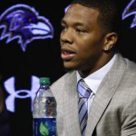 Disgraced Baltimore Ravens running back Ray Rice, speaking at a May 23 press conference in Maryland.