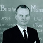 Prof. Leon Megginson, president Southern Management Association, 1972-1973