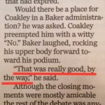 From the news analysis