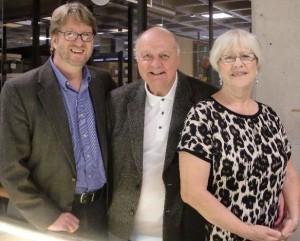 Dale Freeman, Bud Roberts, Peggy Roberts at UMass Boston Archives