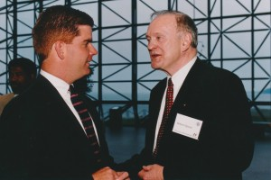 Robert H. Quinn in 1998, at right, with State Representative (and current Mayor of Bostoin) Marty Walsh.
