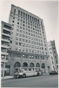 100 Arlington Street, UMass Boston's first home in Park Square. UASC-UAPHO-0001-0112