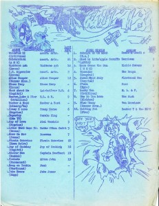 WUMB Playlist (1971-04-07). Click to view larger image.