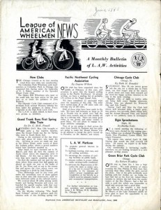 League of American Wheelmen newsletter, June 1940