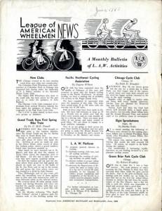 League of American Wheelmen newsletter, June 1940