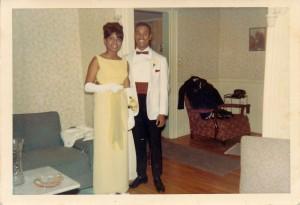 Hingham High School prom, 1966. Joyce Barber and Ronald Wright. Contributor: Joyce Barber.